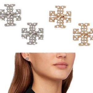 Tory Burch Stud Crystal Earings